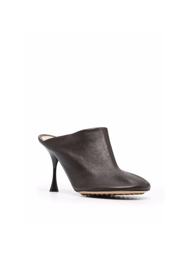 High Heel Mule in Dark Brown