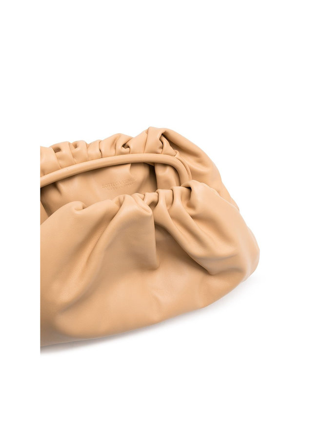 The Pouch Large Clutch Bag in Beige/Gold