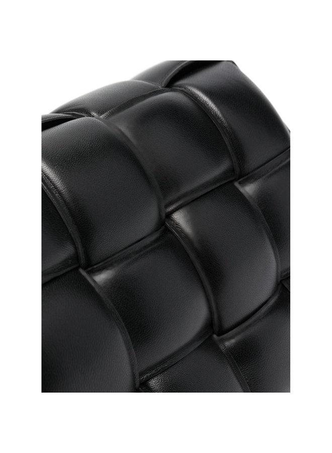 Padded Cassette Shoulder Bag in Black/Gold