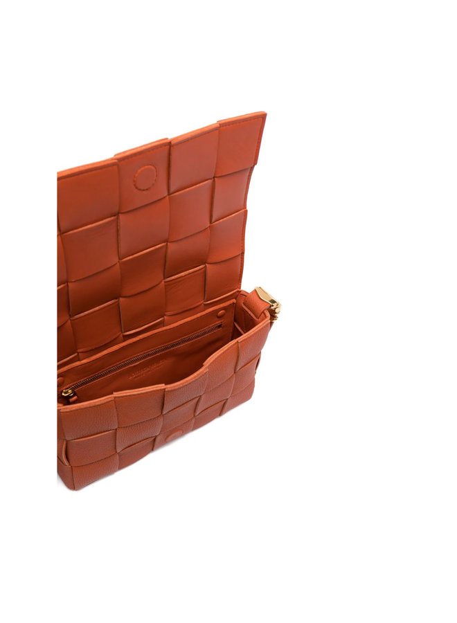 Cassette Crossbody Bag in Warm Ora/Gold