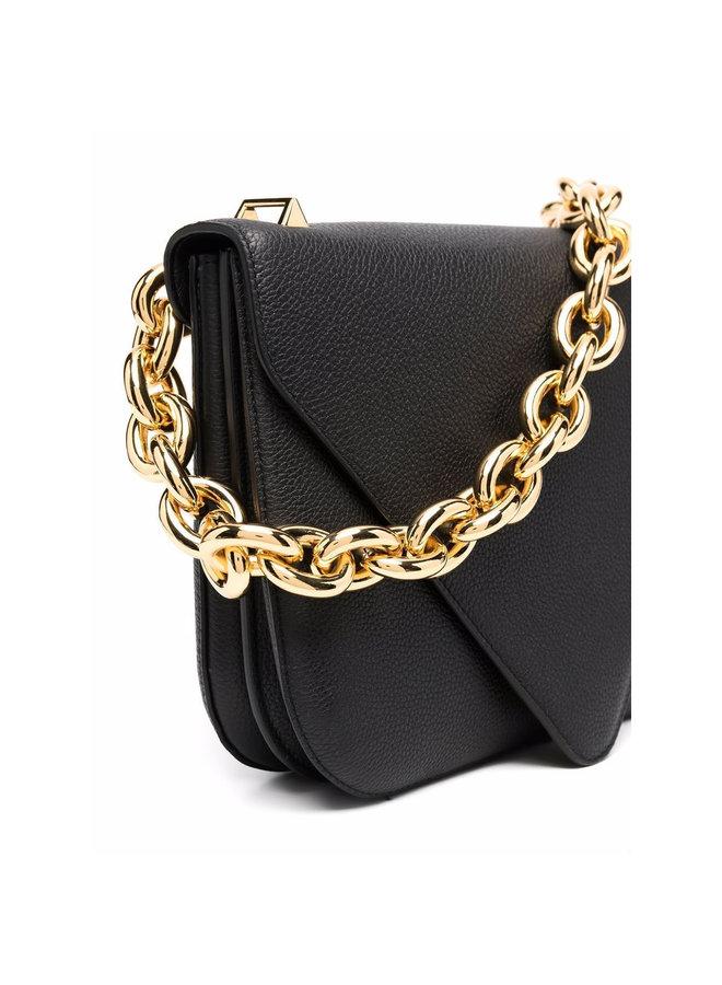 Mount Large Shoulder Bag in Black/Gold