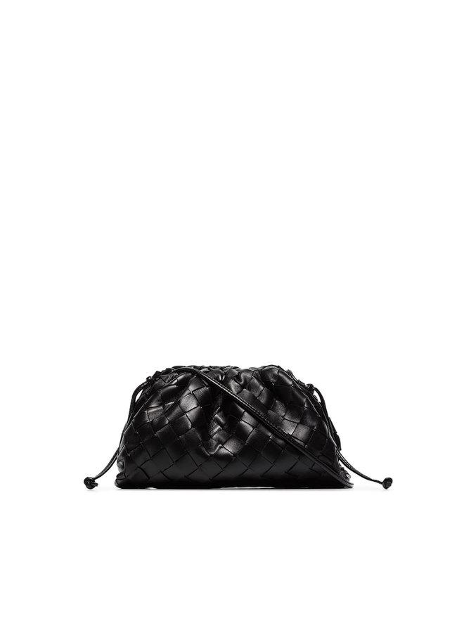 The Mini Pouch Bag in Black/Silver