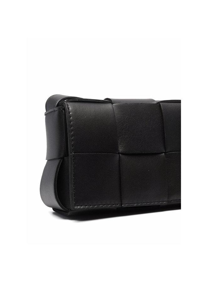 Tiny Cassette Bag in Black/Gold