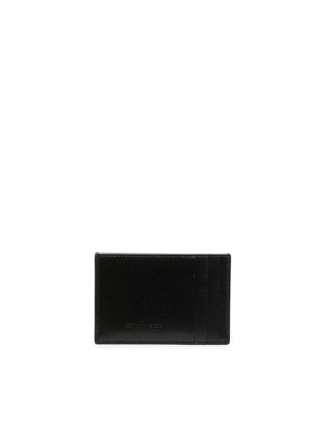 Maxi Intrecciato CC Holder in Black/Gold