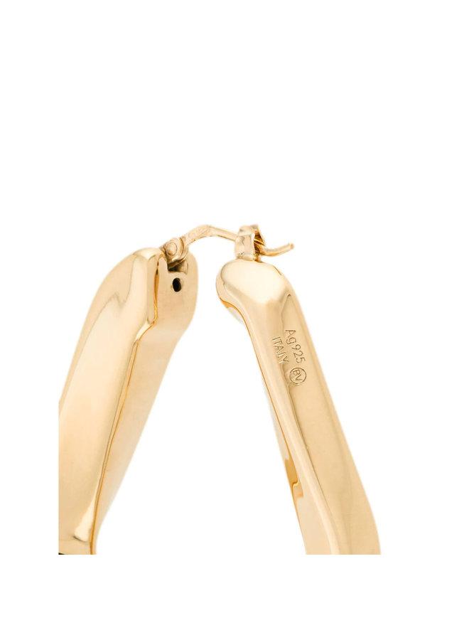 Triangular Shaped Earrings in Gold