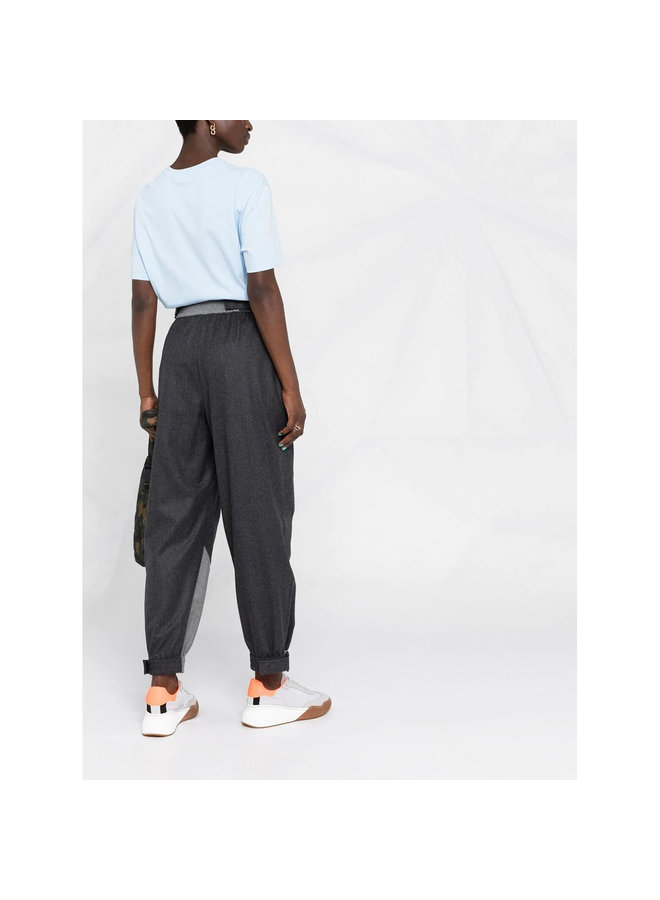 Lacey Paneled Casual Pants in Ash Grey
