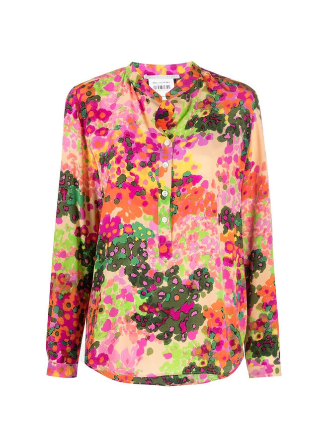 Eva Long Sleeve Shirt in Multi Pink
