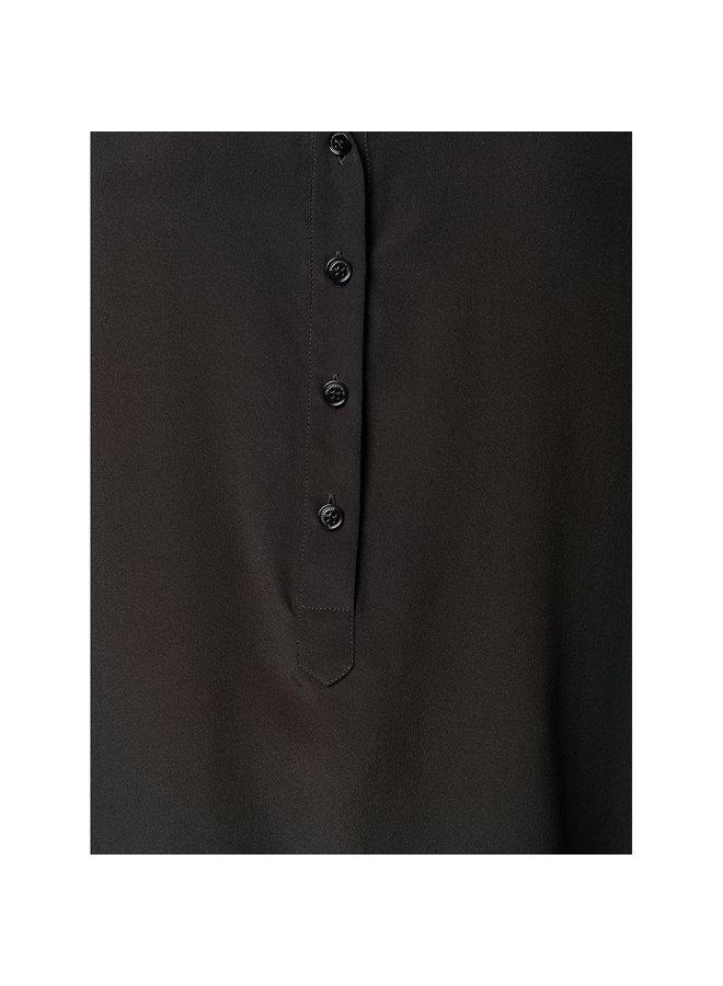 Eva Classic Long Sleeve Shirt in Black