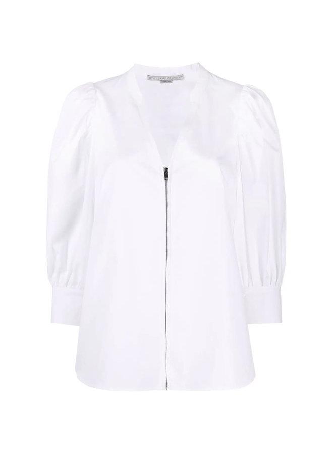 Rose Long Sleeve Zip Blouse