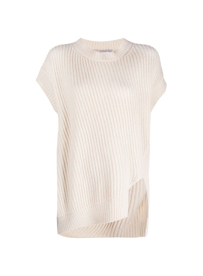 Sleeveless Rib Knit Sweater