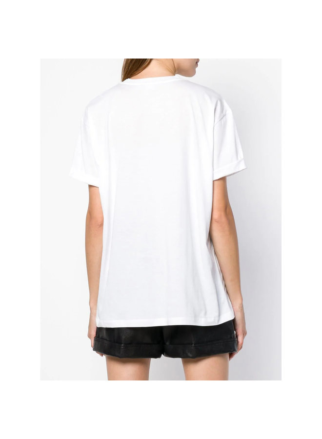 Embellished Start T-Shirt in Pure White