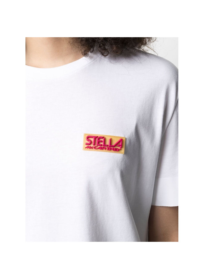 Sport Logo Patch T-Shirt in Pure White