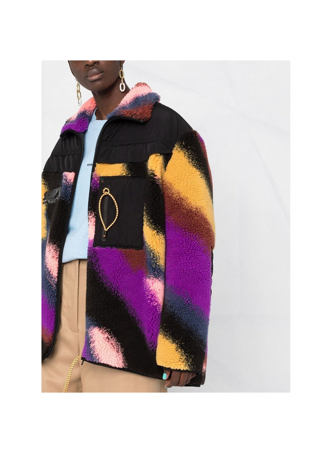 Marley Faux-Shearling Coat in Multicolor