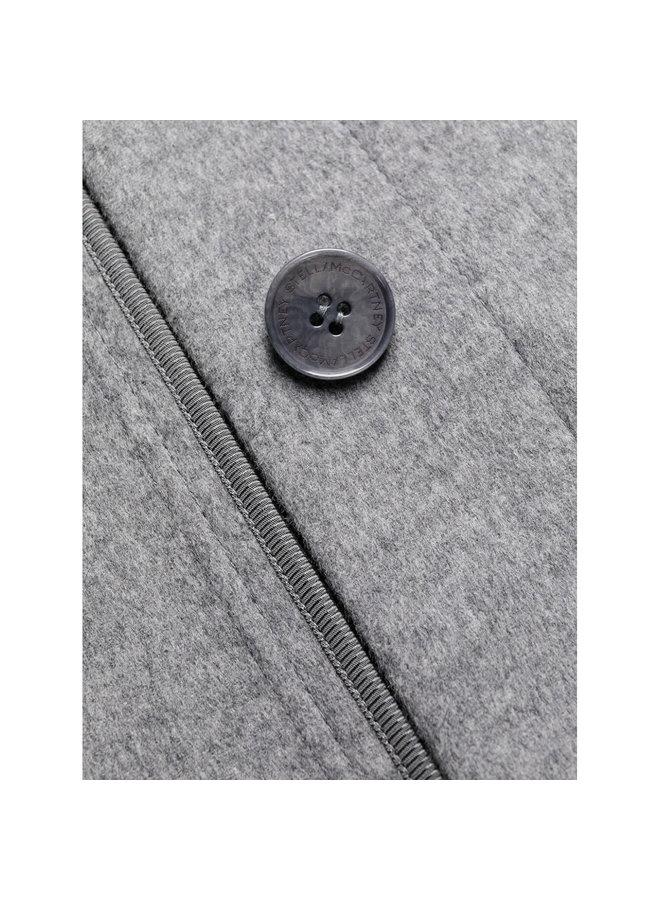 Linda Long Belted Coat in Grey Melange