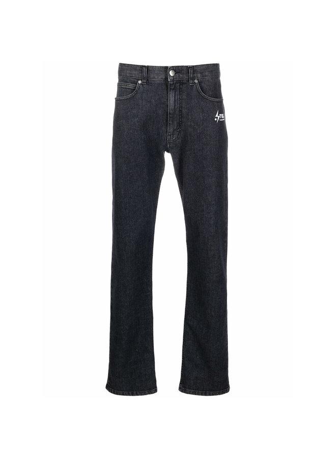 Straight-Leg Logo Print Jeans