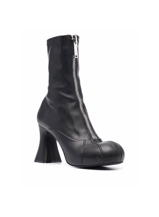 High Heel Ankle Boots in Black