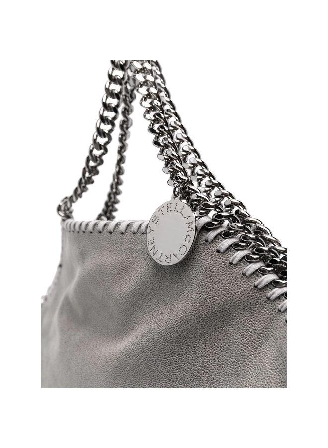 3Chain Large Falabella Shoulder Bag in Grey/Silver