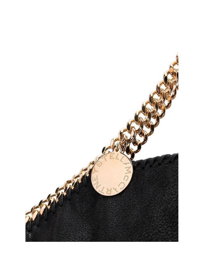 3Chain Large Falabella Shoulder Bag in Black/Gold