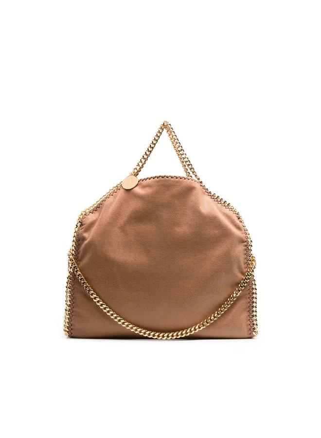 3Chain Large Falabella Shoulder Bag in Camel/Gold