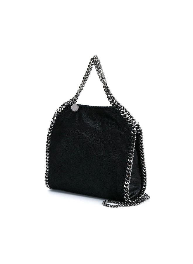 Mini Tote Falabella Bag in Black/Silver