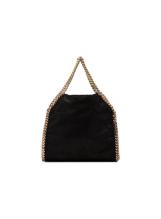 Mini Tote Falabella Bag in Black/Gold
