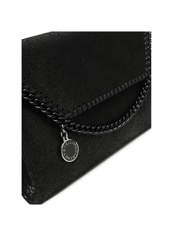Mini Falabella Crossbody Bag in Black/Black