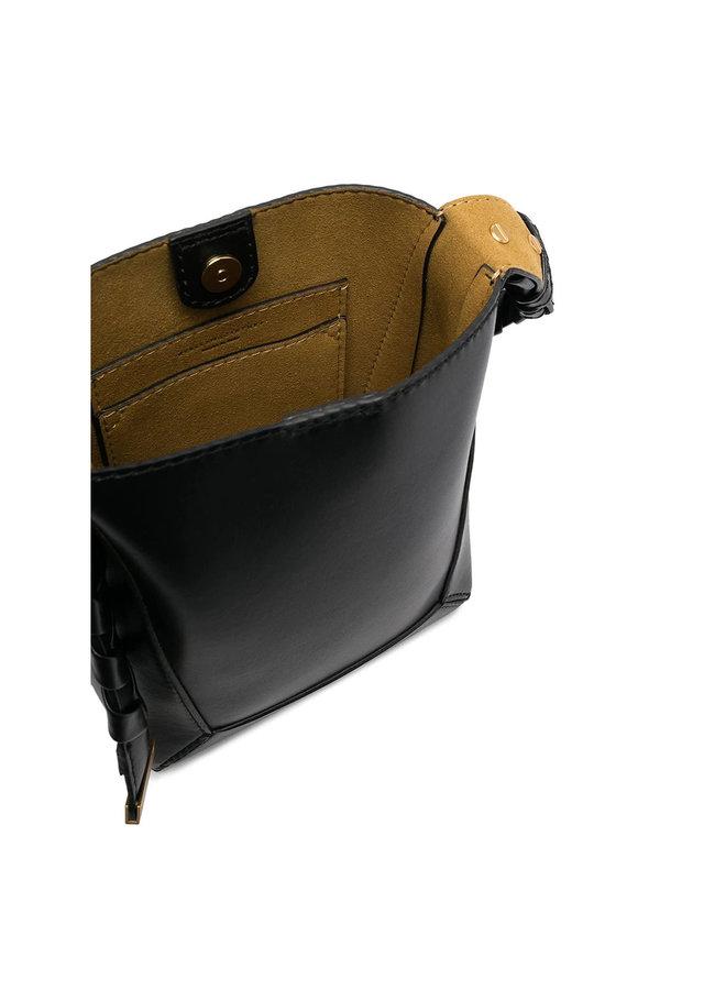 Mini Hobo Crossbody Bag in Black