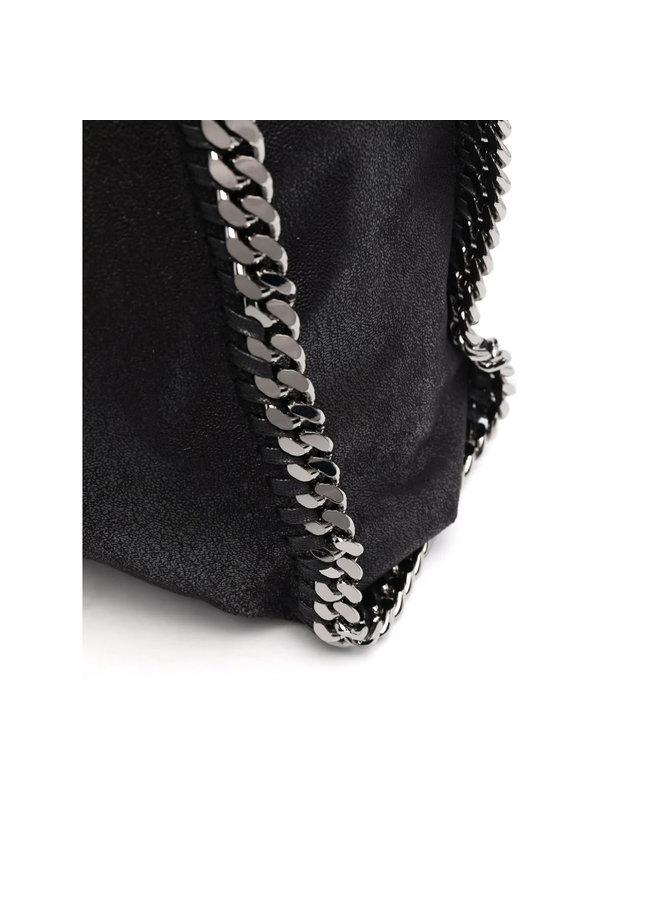 Maxi Falabella Tote Bag in Black/Silver