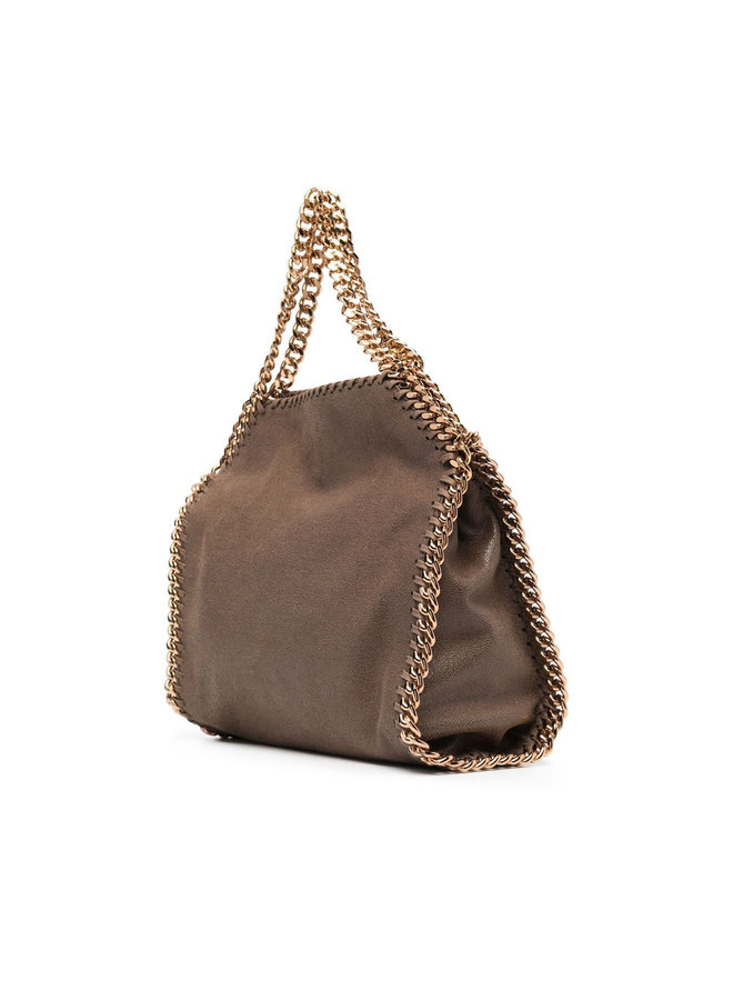 Mini Tote Falabella Bag in Olive/Gold