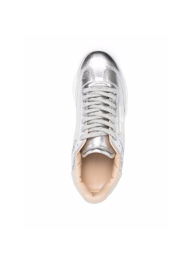 Loop Low Top Sneakers in Silver