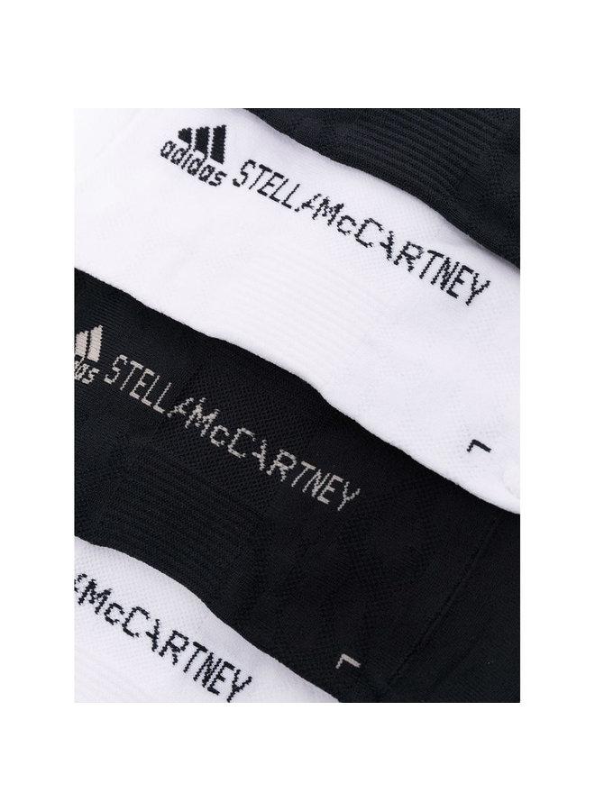 Logo Knit Socks in Black/White