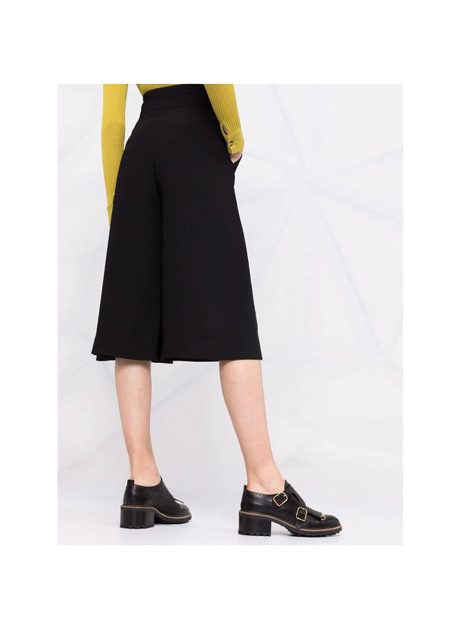 A-Line  Coulotte Pants in Black