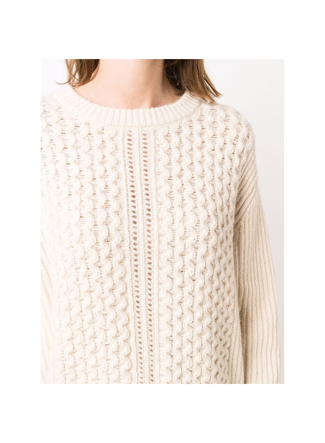 Cable Knit Sweater in Beige
