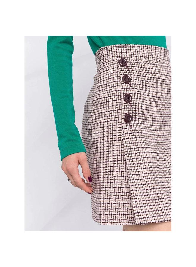Mini Check Print Skirt in Multicolor