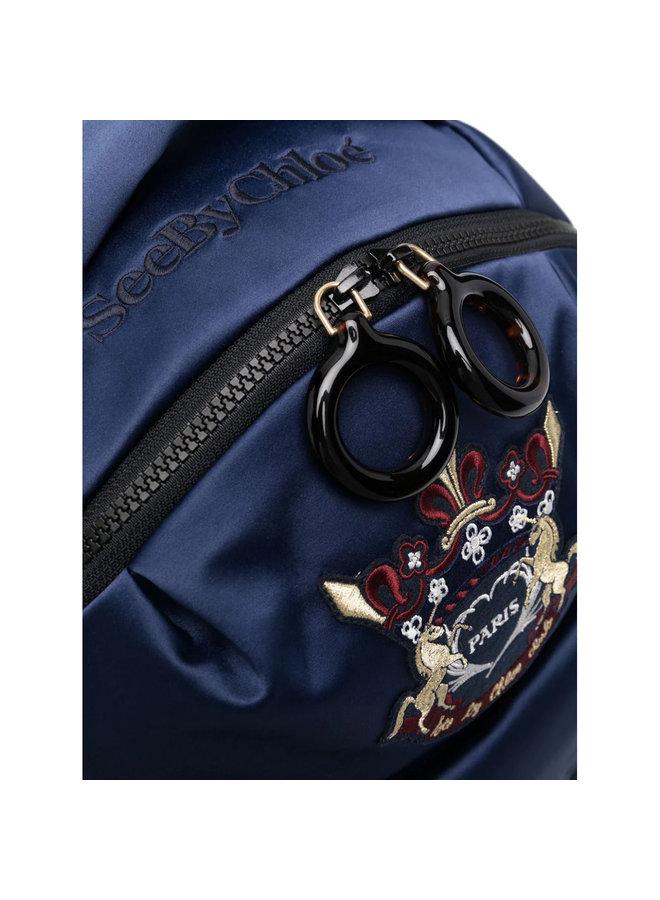 Logo Backpack in Royal Navy