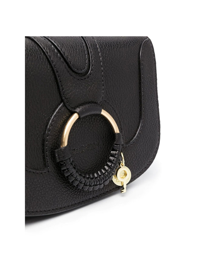 Hana Chain Strap Crossbody Bag in Black