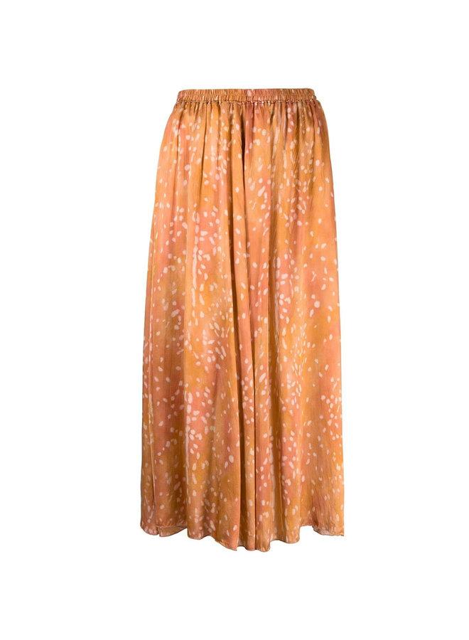 Draped Midi Printed Skirt