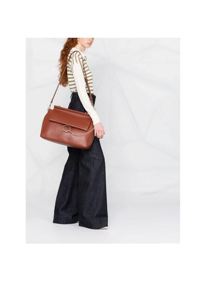 Faye Large Shoulder Bag in Brown