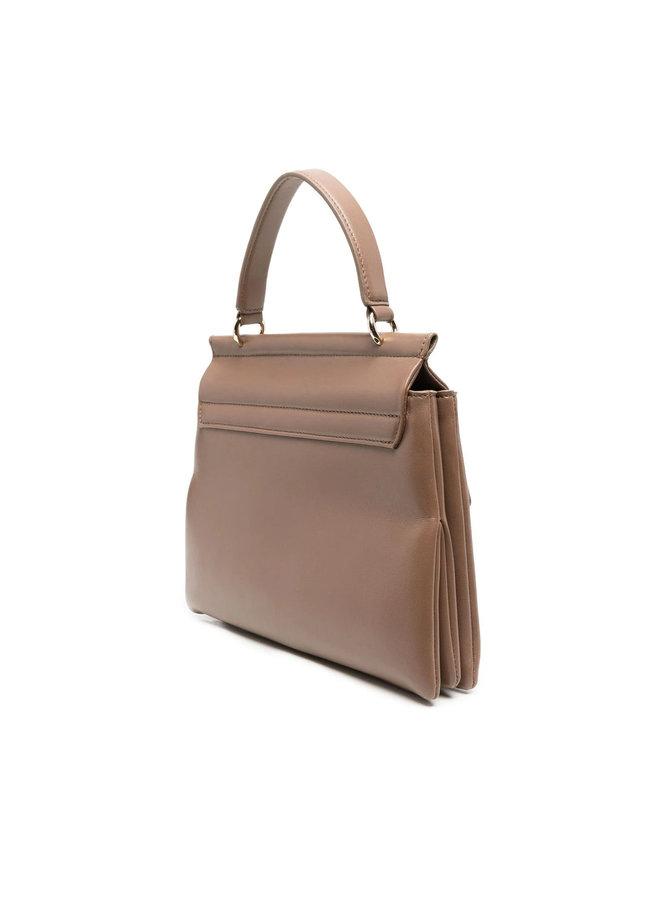 Faye Medium Shoulder Bag in Taupe