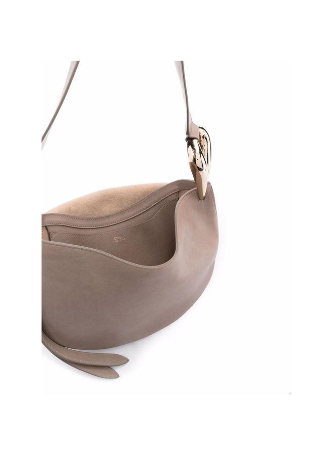 Kiss Shoulder Bag in Grey