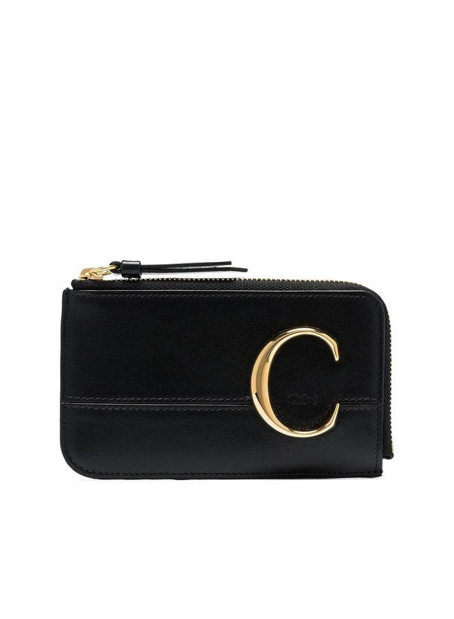 C Zip Cardholder in Black