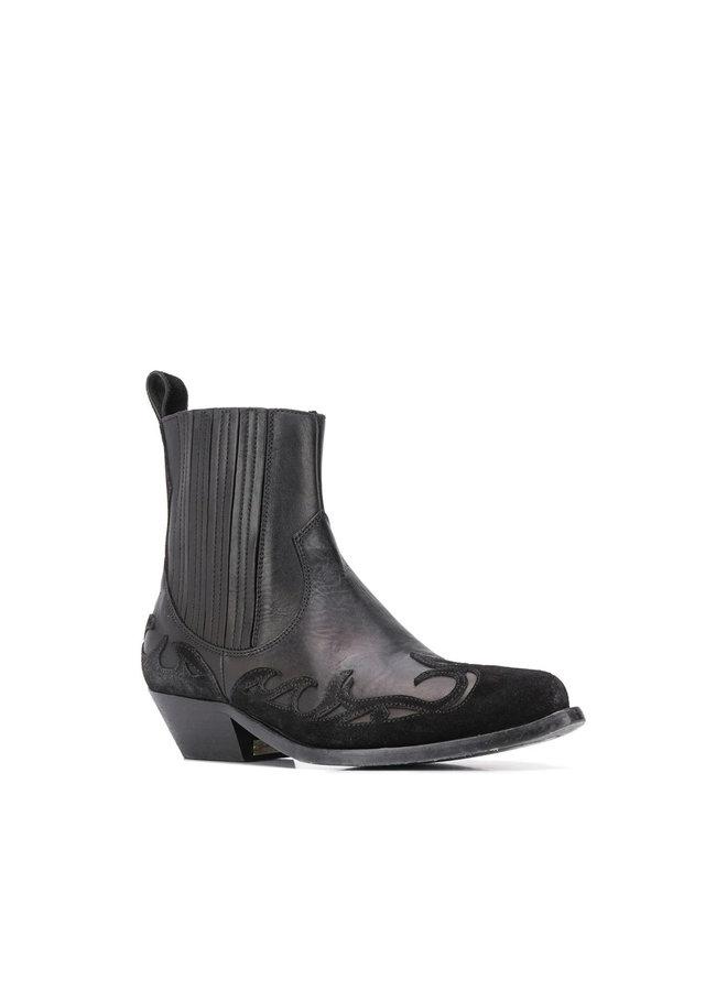 Sandiago Cowboy Boot in Black