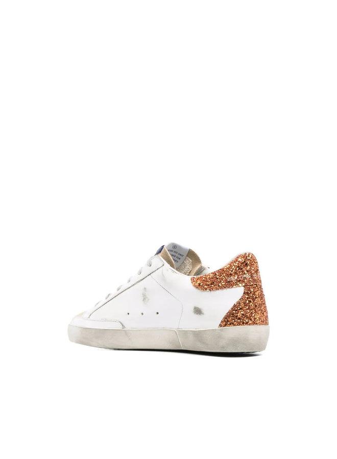 Superstar Low Top Sneakers in White/Cappucino