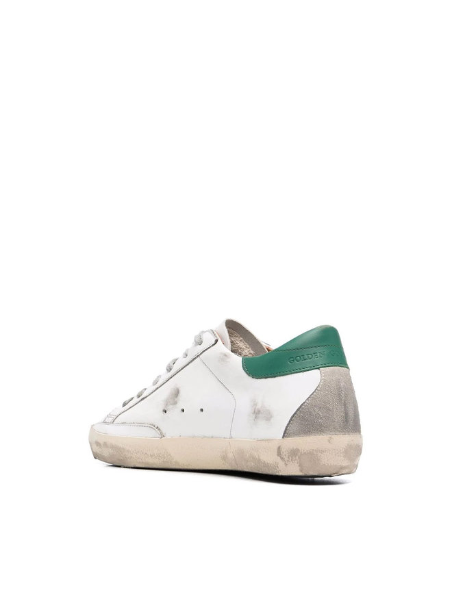 Superstar Low Top Sneakers in White/Green