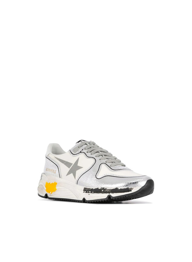 Running Sole Sneakers in Silver