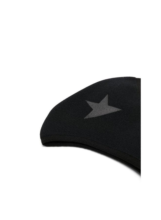 Star Motif Face Mask in Black