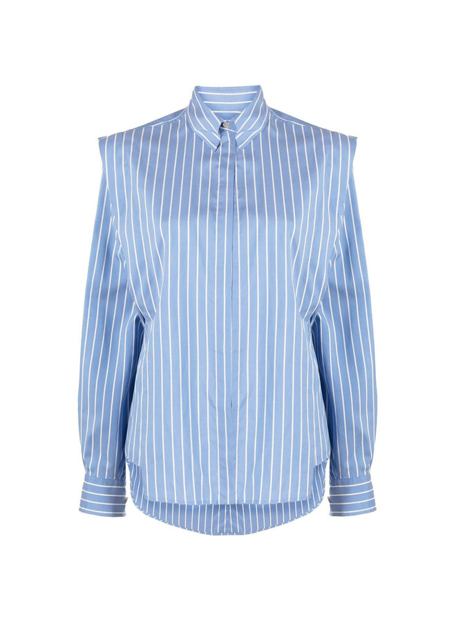 Long Sleeve Striped Shirt in Blue