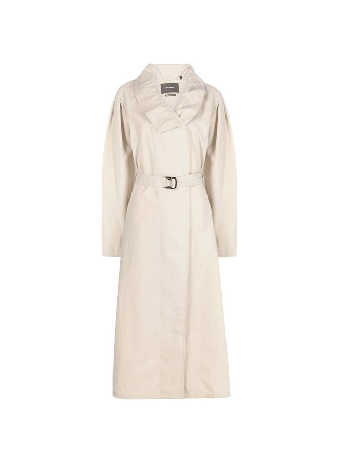 Belted Trench Coat in Beige