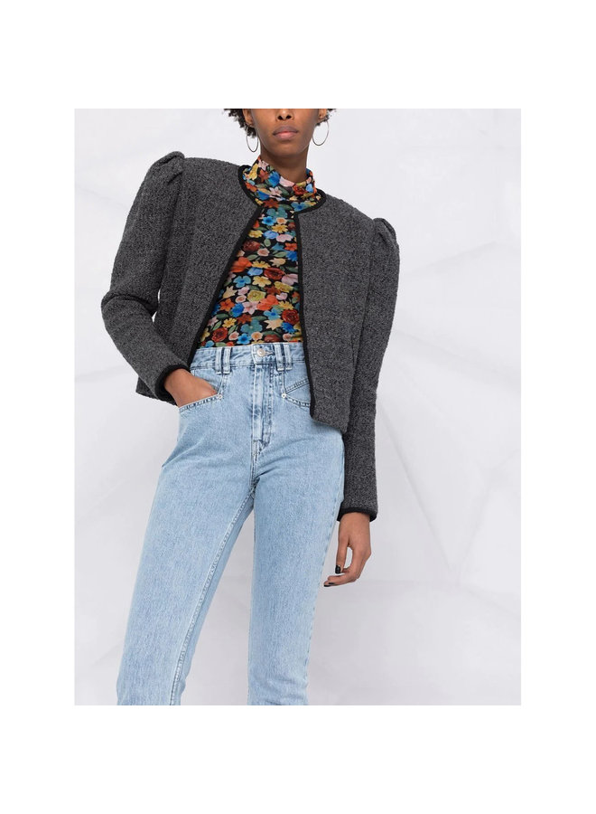High Waisted Denim Jeans in Light Blue