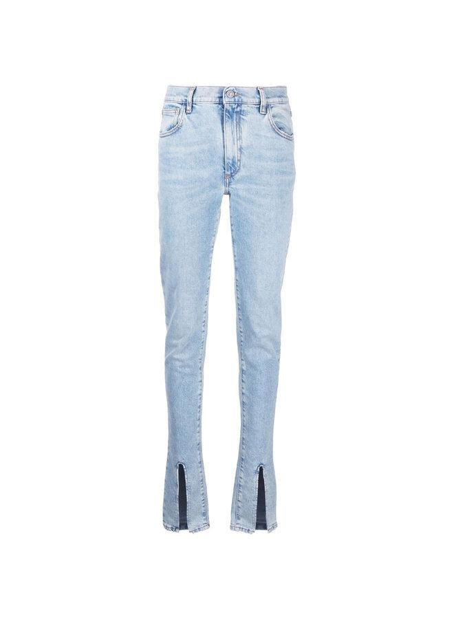 Slit-Detail Skinny Jeans